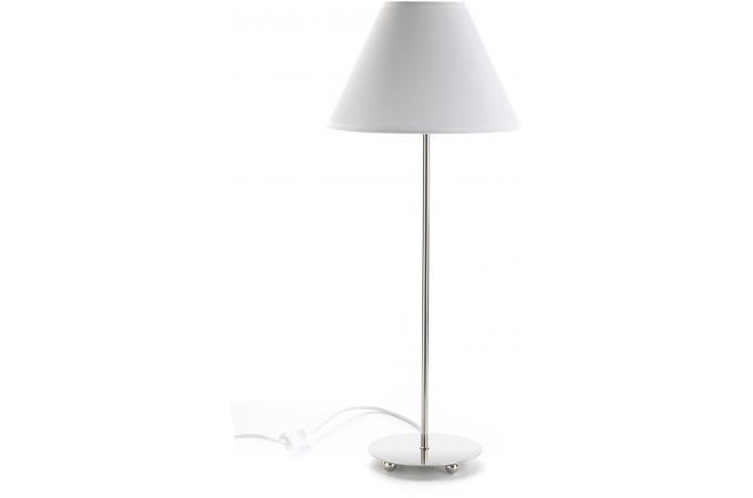 Lampe de table en m tal blanche lampe poser pas cher - Lampe de table pas cher ...