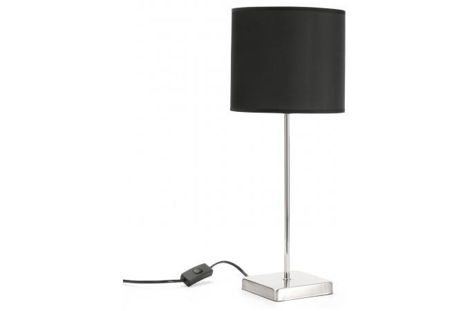 lampe de table cylindre noire lampe poser pas cher. Black Bedroom Furniture Sets. Home Design Ideas