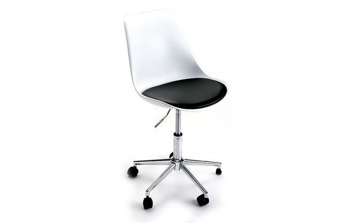 chaise de bureau roulettes blanche fauteuil chaise de bureau pas cher. Black Bedroom Furniture Sets. Home Design Ideas