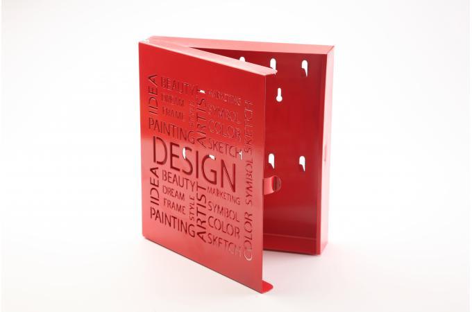 Bo te cl s design rouge bo te de rangement pas cher - Boite a cles moderne ...