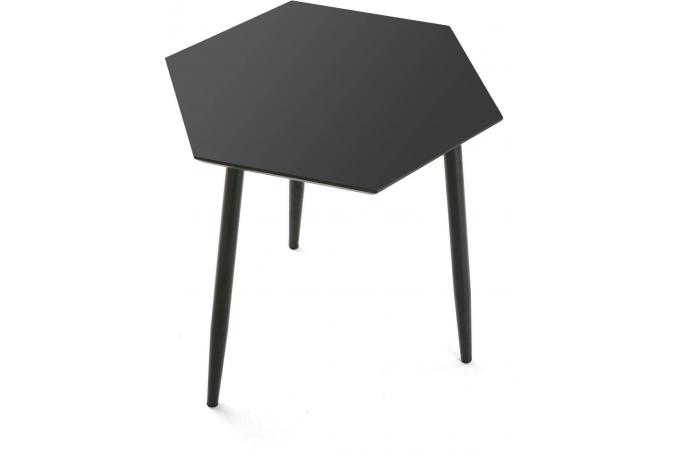 table d 39 appoint hexagonale noire table d 39 appoint pas cher. Black Bedroom Furniture Sets. Home Design Ideas