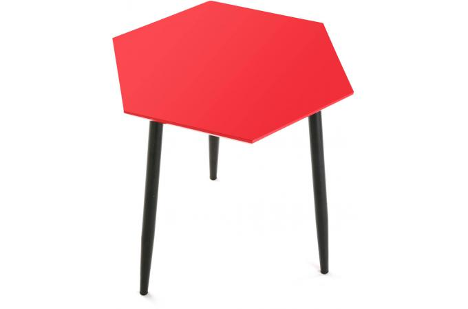 Table d 39 appoint hexagonale rouge table d 39 appoint pas cher for Architecture hexagonale