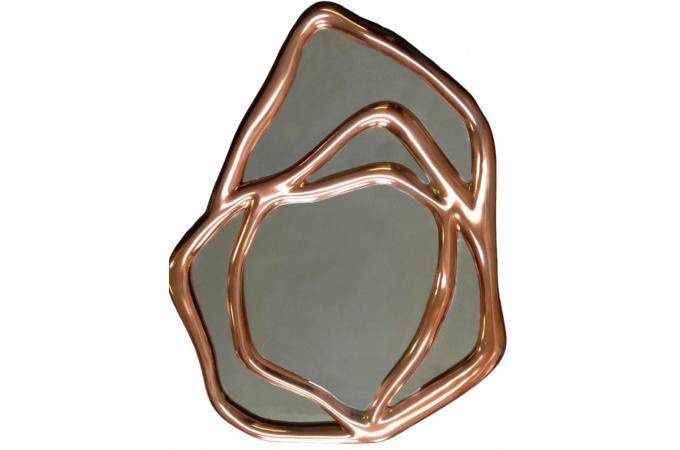 miroir copper miroir rond et ovale pas cher. Black Bedroom Furniture Sets. Home Design Ideas