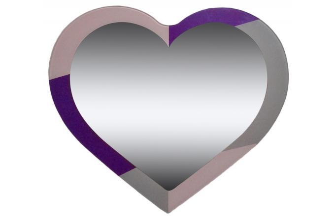 Miroir coeur cadre rose et violet miroir rond et ovale pas cher for Miroir rond sans cadre