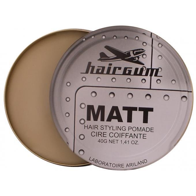 cire coiffante matt wax tenue sans brillance hairgum gel cire cheveux homme. Black Bedroom Furniture Sets. Home Design Ideas