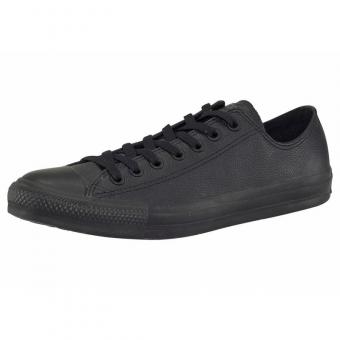Converse - Converse Chuck Taylor All Star Basic Ox sneakers basses en cuir - Noir - Promotions