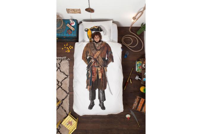 parure coton pirate housse de couette 140x200 et 1 taie d 39 oreiller 65x65 housse de couette. Black Bedroom Furniture Sets. Home Design Ideas