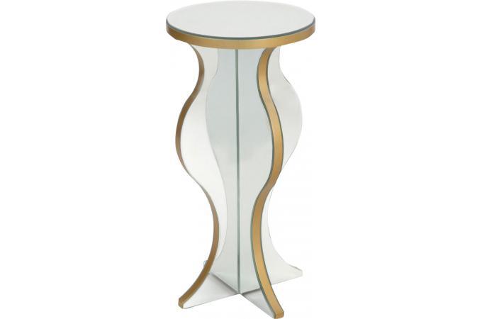 sellette ronde plateau en verre miroir rond et ovale pas cher. Black Bedroom Furniture Sets. Home Design Ideas