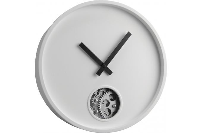 Horloge blanche moderne 40 cm horloge design pas cher for Horloge blanche design