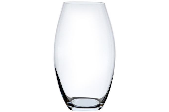 vase oval en verre h 30 cm deco design. Black Bedroom Furniture Sets. Home Design Ideas
