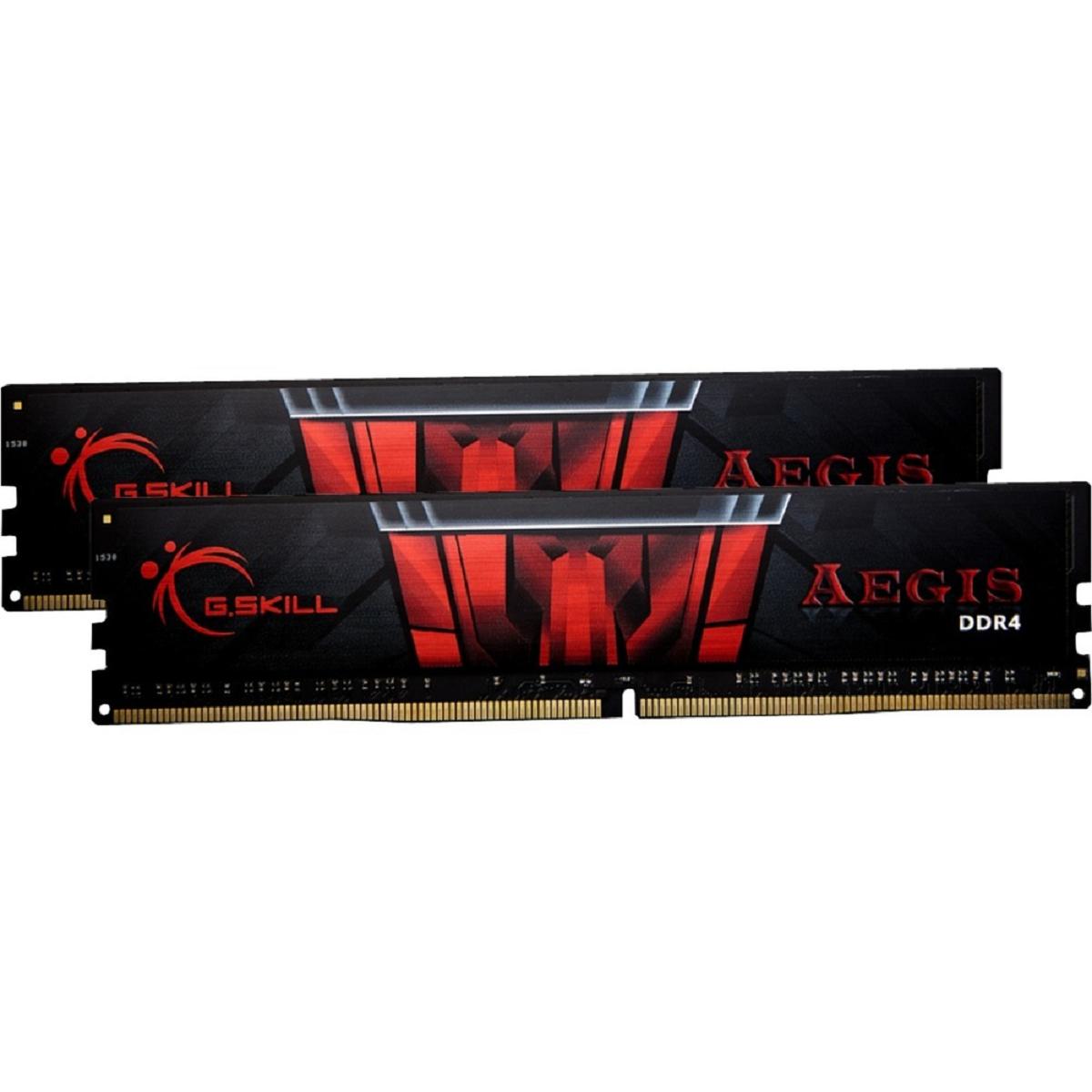 Aegis - 2 x 8 Go - DDR4 3000 MHz - Noir/Rouge