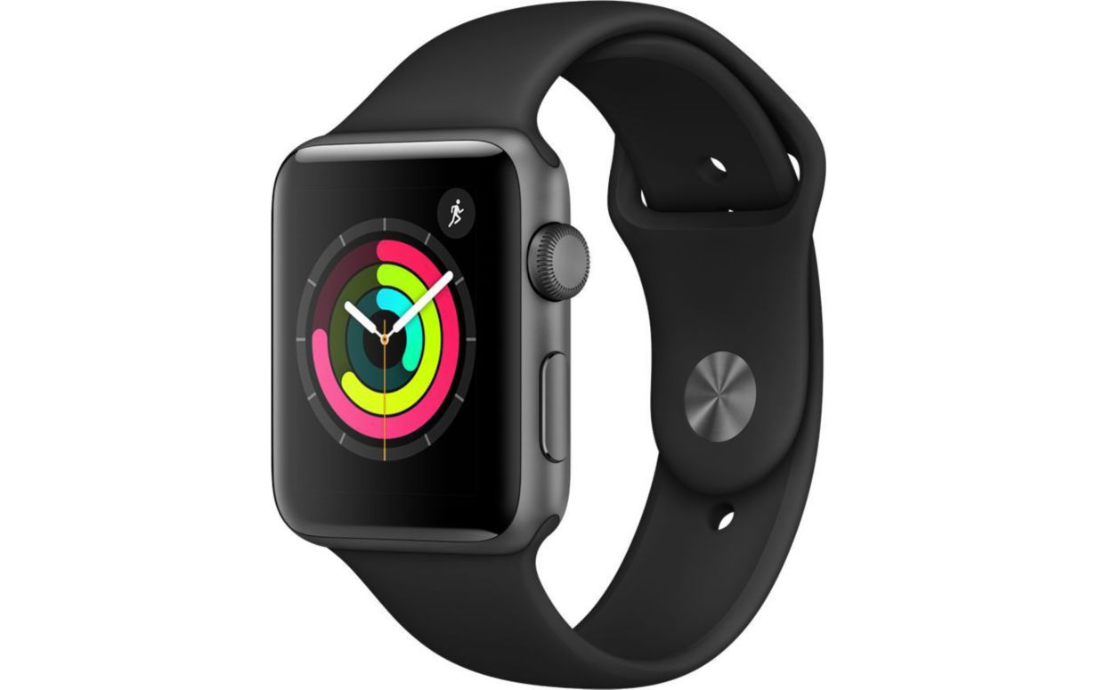 Apple Watch Series 3 - GPS - 42 mm - Gris Sidéral -  Bracelet Sport Noir