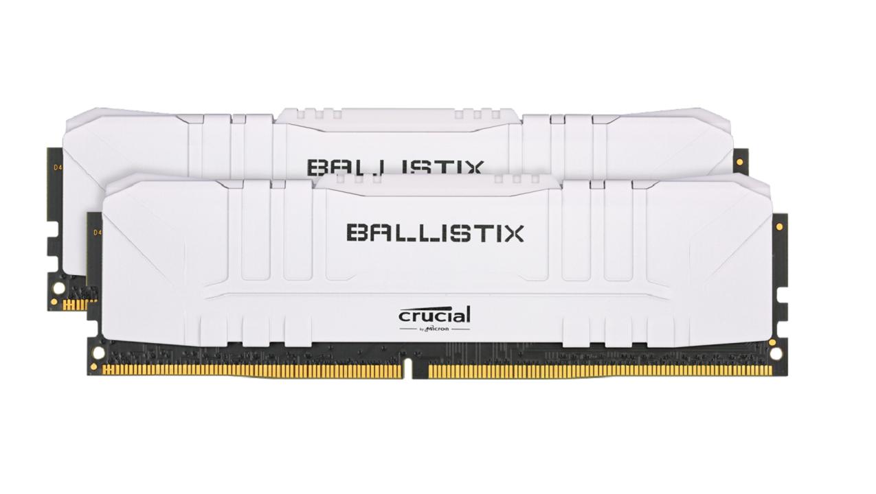 Kit de RAM Ballistix DDR4-3000 16 Go (2 x 8 Go) Crucial Blanc
