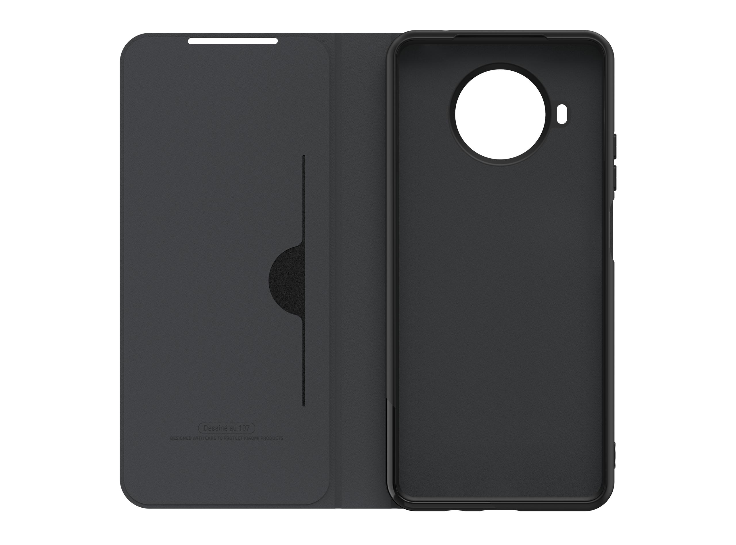 Etui Folio pour Redmi Note 9T Noir