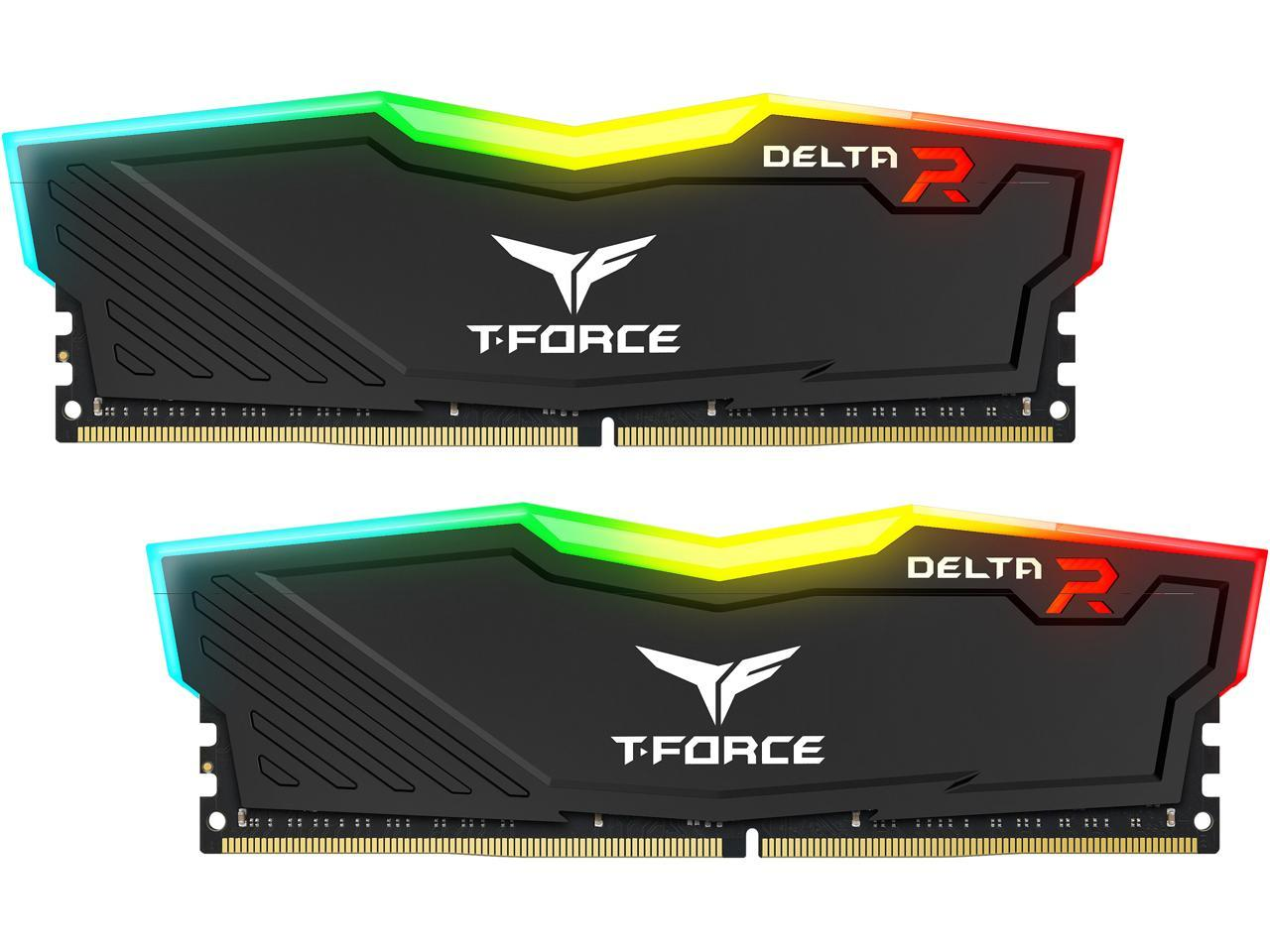 Kit de mémoire Delta RGB 32 Go T-Force Noir
