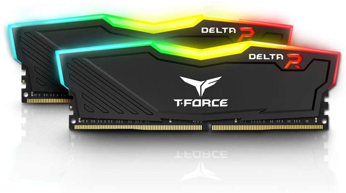 Kit de RAM Team Group Delta RGB DDR4 3200 MHz 2 x 8 Go T-Force Noir