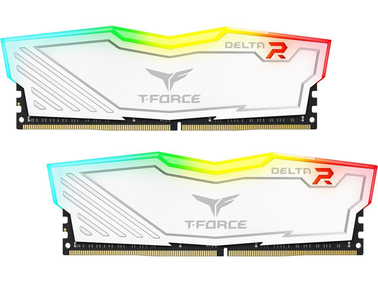 Delta RGB - 2 x 8 Go - DDR4 3600 MHz CL 18 - Blanc