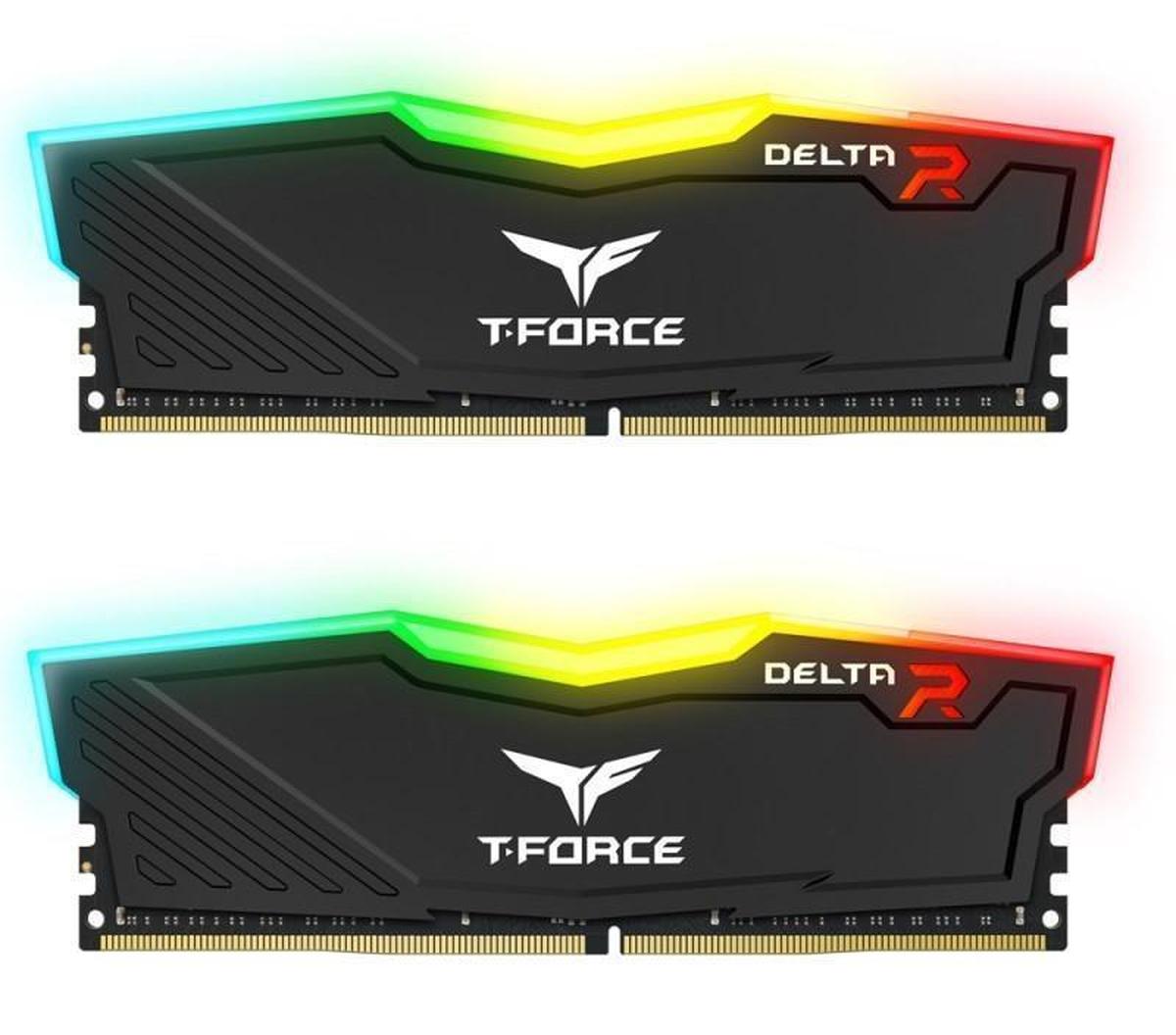 Kit de mémoire gaming Delta RVB 16 Go T-Force Noir
