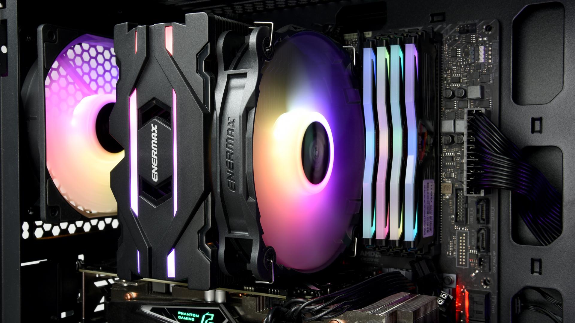 ETS-F40 - Refroidisseur noir pour processeur Intel / AMD Ryzen