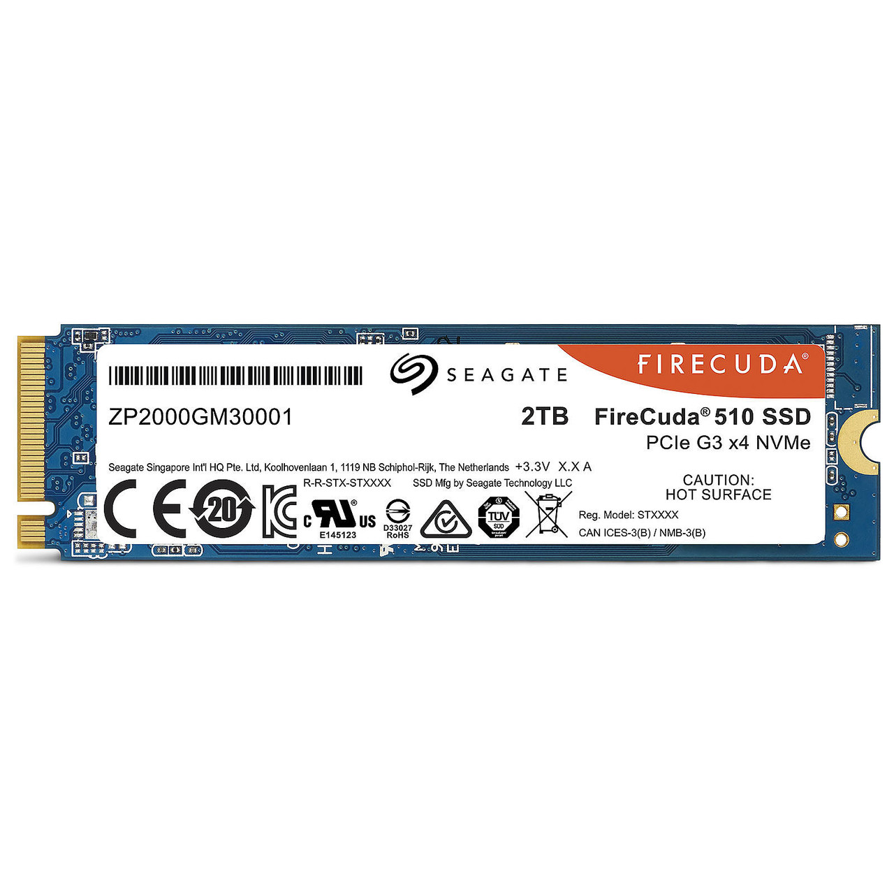 Disque SSD Gaming Firecuda 2 To M.2 NVMe Seagate
