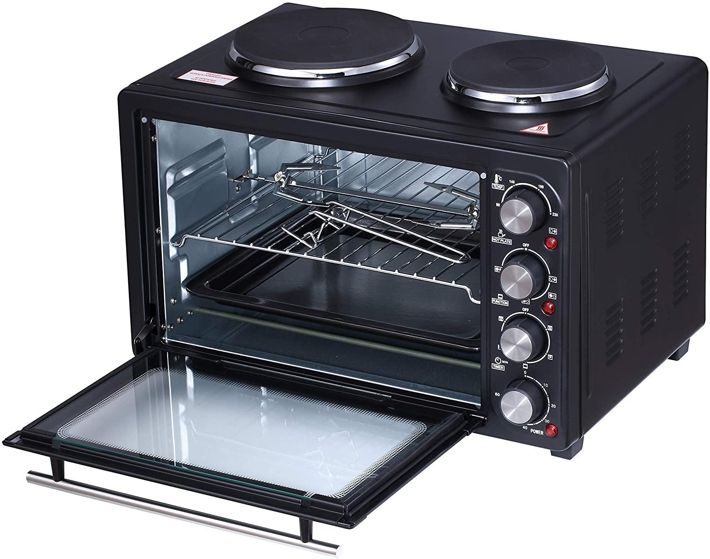 Four électrique avec plaques chauffantes intégrées AD6020 - Noir