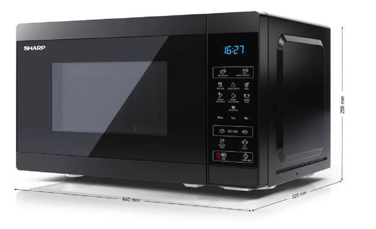 Four micro-ondes YC-MS02E-B - 20L - 800W - Noir