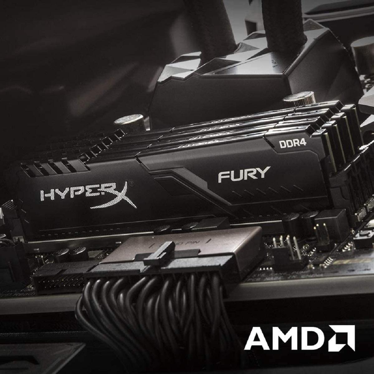 Fury - 1x4 Go - DDR4 2666 MHz - CL 16 Noir