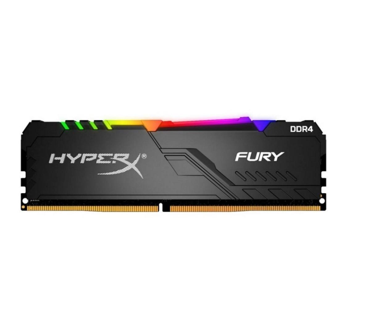 Fury - 1x8 Go - DDR4 3600 MHz - CL16 - Noir - RGB
