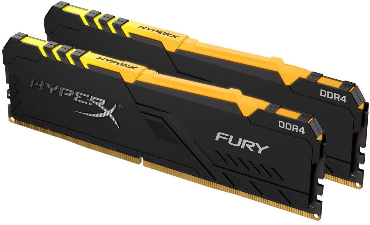 Fury RGB - 2x8Go - DDR4  3600Mhz CAS 17 - Noir