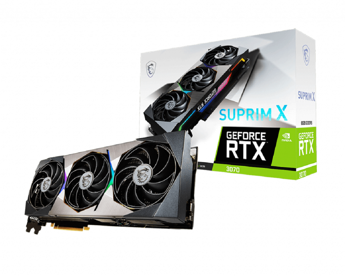 Carte graphique GeForce RTX 3070 SUPRIM X Triple Fan 8 Go MSI