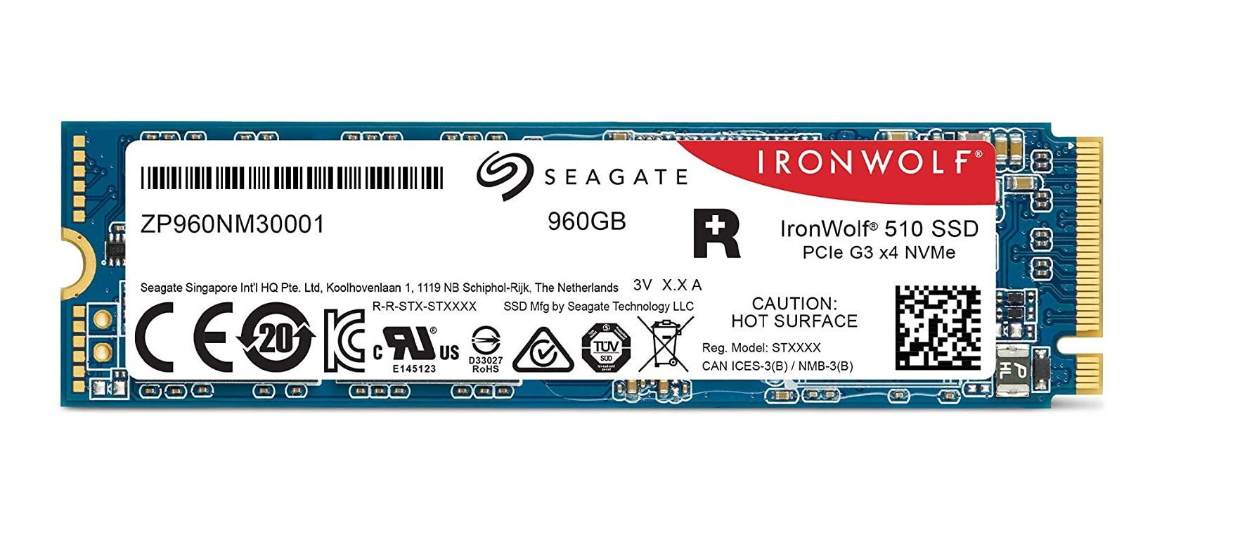 Disque SSD IronWolf 510 NVMe Seagate