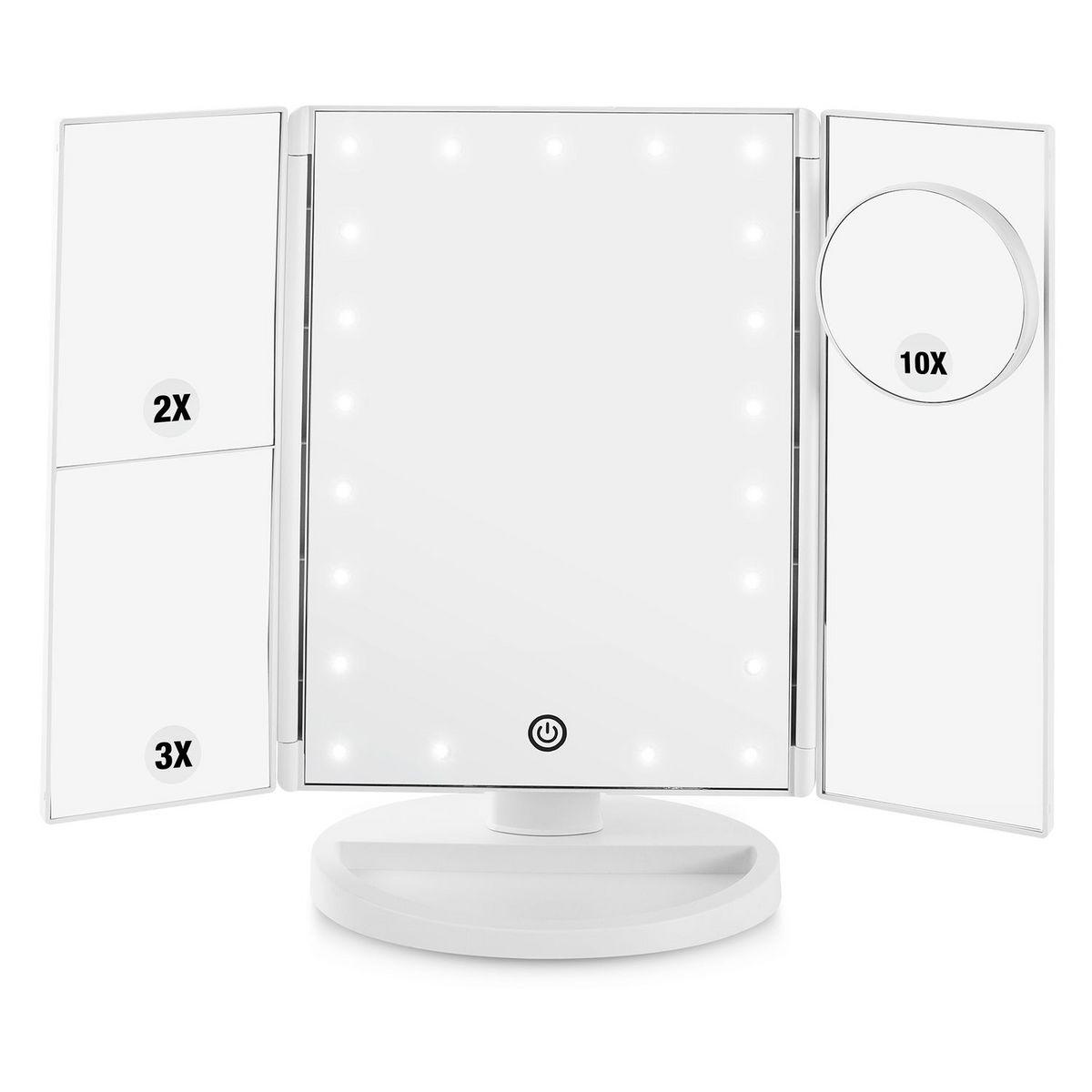 Miroir grossissant Tripty3 - Lumineux 21 LED