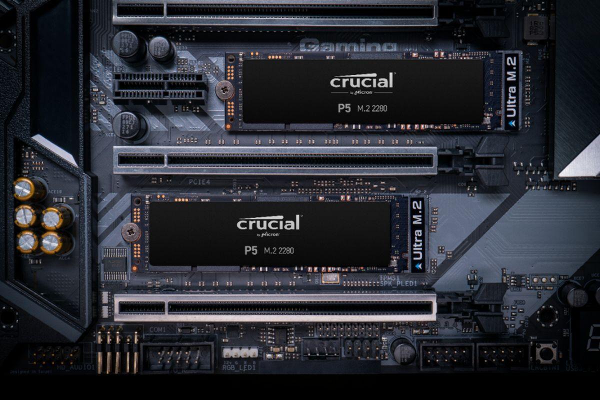Disque SSD P5 Crucial Noir