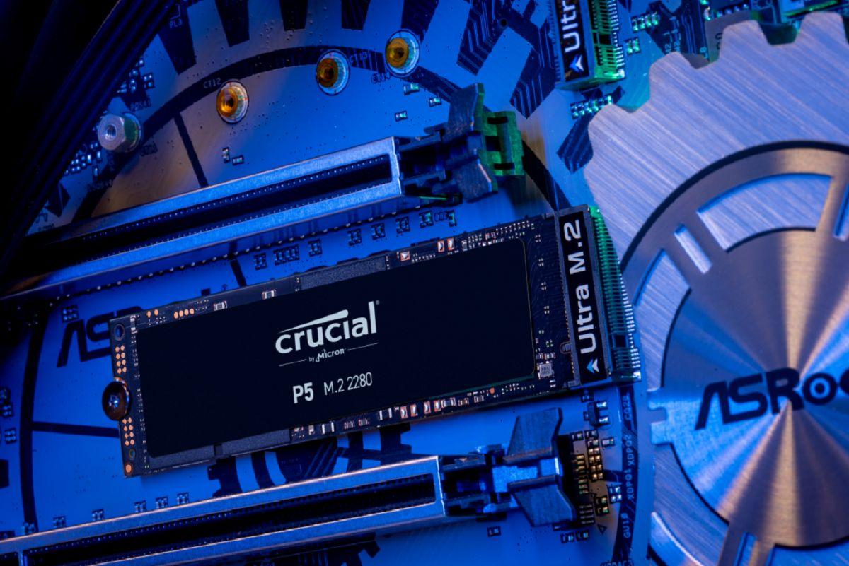 Disque SSD P5 500 Gb PCIe M.2 Crucial