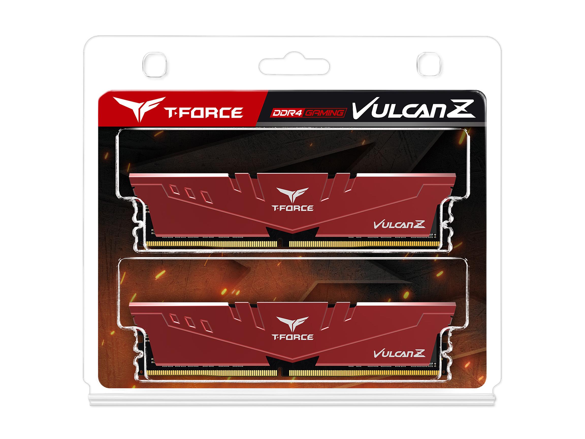 Kit de mémoire Vulcan Z 16 Go T-Force Rouge