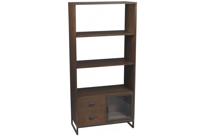 Biblioth que bois industriel fred meuble de rangement - Systeme rangement cremaillere ...