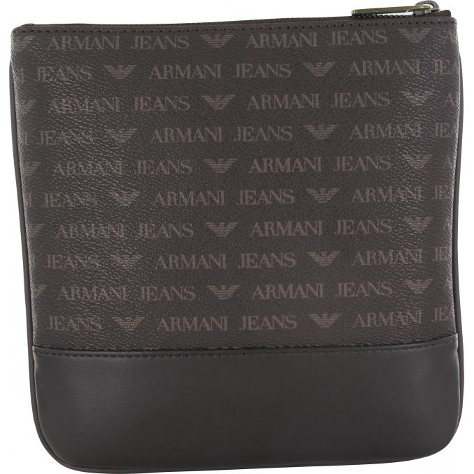 sacoche logotee simili cuir armani jeans sac homme. Black Bedroom Furniture Sets. Home Design Ideas