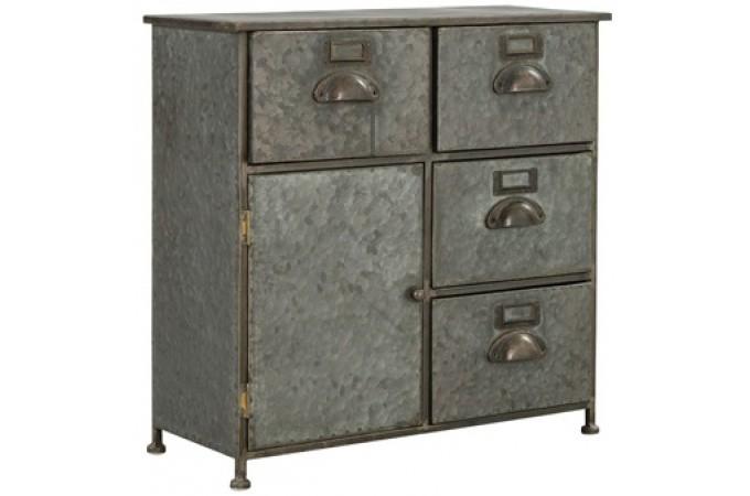 petit buffet gris en m tal manola buffet pas cher. Black Bedroom Furniture Sets. Home Design Ideas