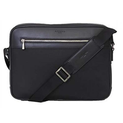 Azzaro Maroquinerie - Sac messenger en nylon et cuir -FENCE - Maroquinerie azzaro homme
