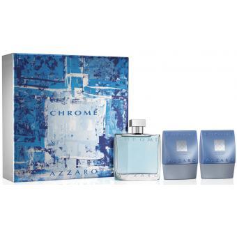 Coffret chrome 100ml gel douche baume apr s rasage offert azzaro parfums parfums homme - Coffret gel douche homme ...
