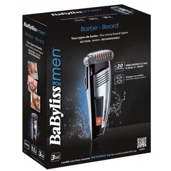Babyliss E846E Tondeuse Barbe Lames Wtech Waterproof Babyliss