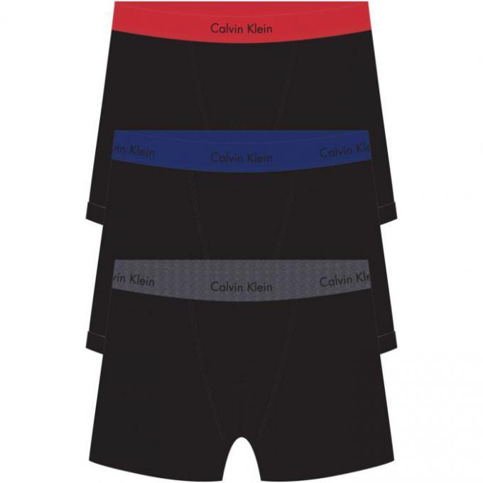 PACK 3 BOXERS HOMME - Coton Stretch Calvin Klein Underwear - Sous ... 30cbd678980