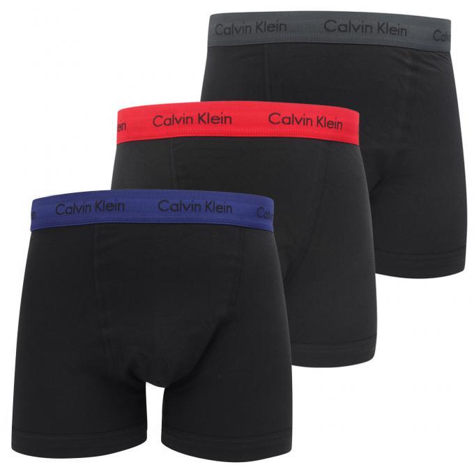 PACK 3 BOXERS HOMME - Coton Stretch Calvin Klein Underwear - Sous ... 4e47b9cbf2f4