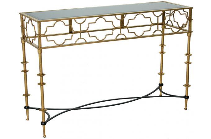 console d 39 entr e orient dor e table console pas cher. Black Bedroom Furniture Sets. Home Design Ideas
