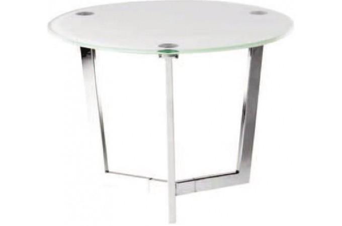 Table d 39 appoint argent e en verre oc ana table d 39 appoint - Table d appoint en verre ...