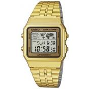 Casio - Montre Casio Retro Vintage A500WEGA-9EF - Montre homme rectangulaire