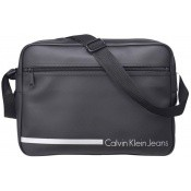 Ck Calvin Klein and Calvin Klein Jeans Homme - BESACE MESSENGER REPORTER NOIR - Maroquinerie (Sacoches, Sac...)
