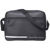 Ck Calvin Klein and Calvin Klein Jeans Homme - BESACE MESSENGER REPORTER NOIR - Maroquinerie (Sacoches, Sac...)