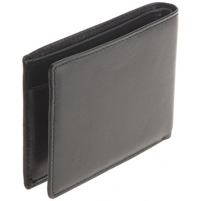 portefeuille 3 volets ck noir en cuir de vachette homme