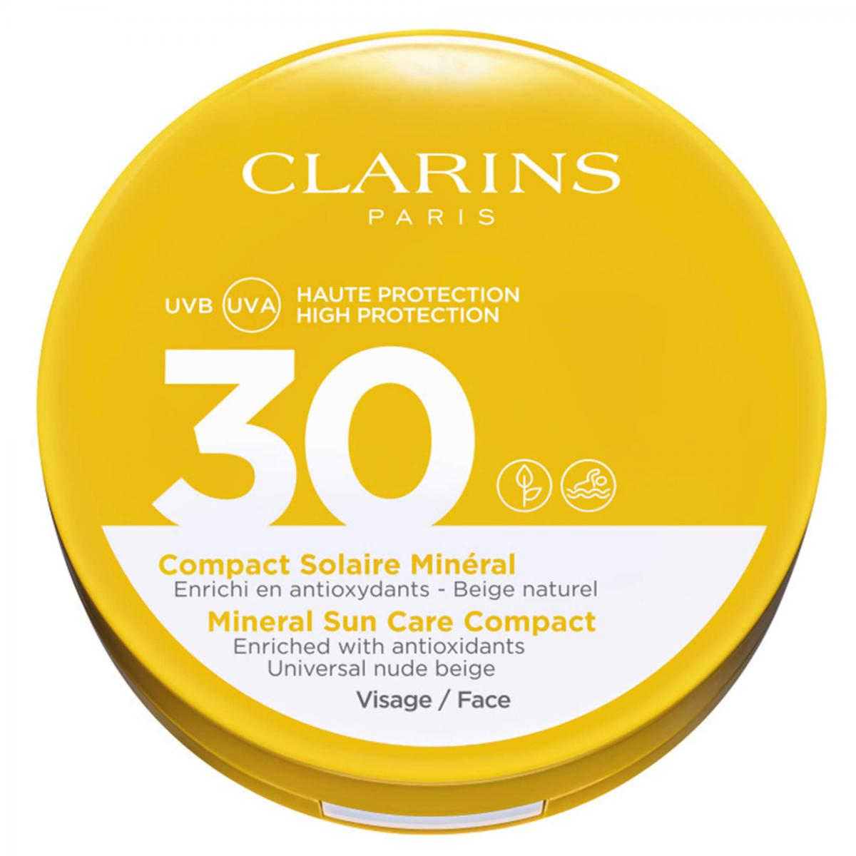 COMPACT SOLAIRE MINERAL SPF30 VISAGE Clarins Men
